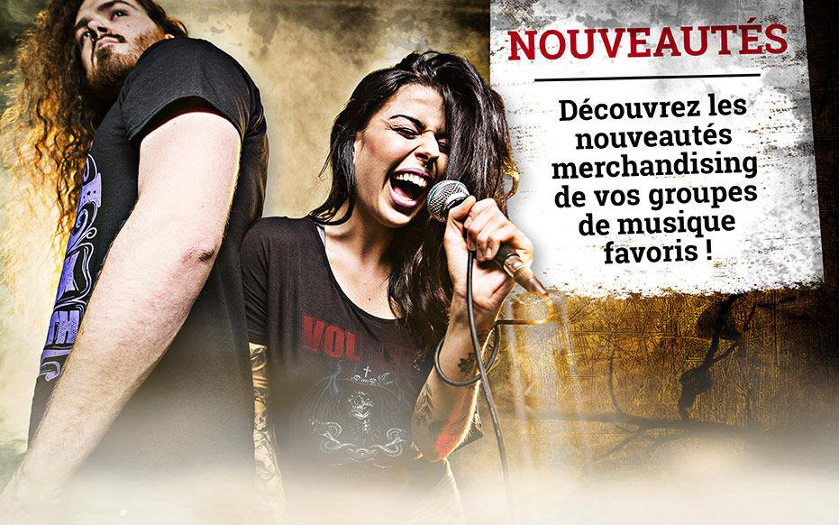 Découvrez les nouveautés merchandising de vos groupes de musique favoris !