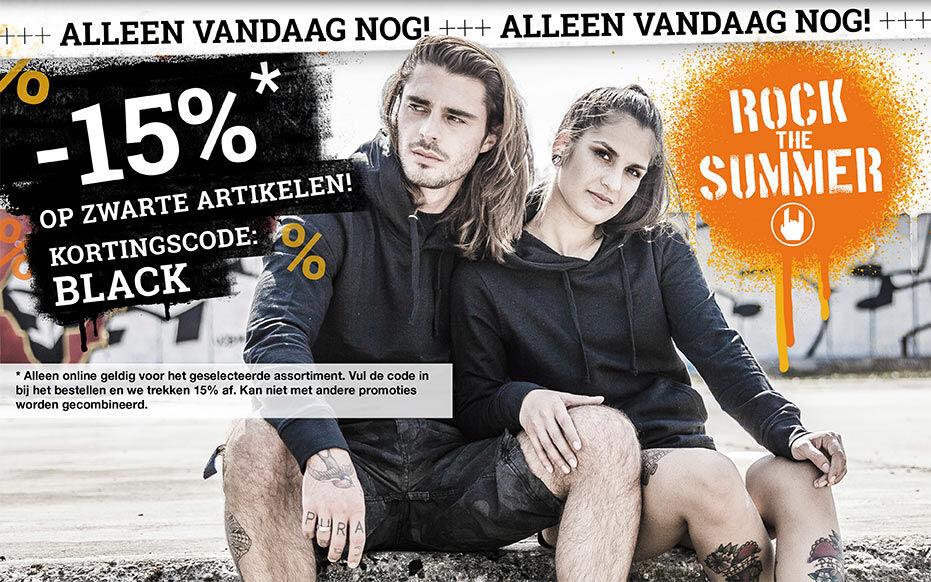 -15% op zwarte artikelen!