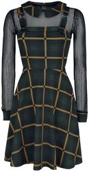 Head In The Clouds Plaid Overall Dress