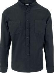 Chemise à col bas en flannel