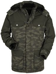 Parka Olivia Multi-Poches Motif Camouflage