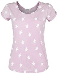 Ladies Allover Stars V-Neck