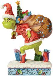 Le Grinch S'enfuyant Avec Un Sac De Cadeaux