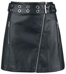 PU Asymmetric Skirt