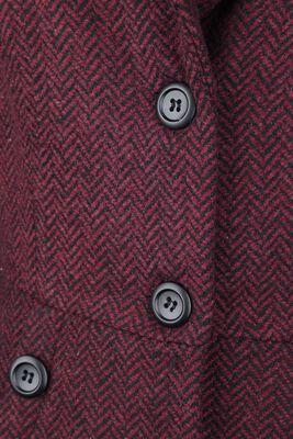 Manteau Style Années 40 Nicole Rouge