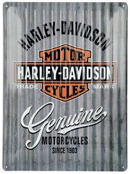 Harley-Davidson Mur en metal - logo