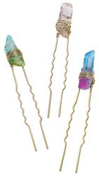 Crystal Rock Hair Grip Set van 3