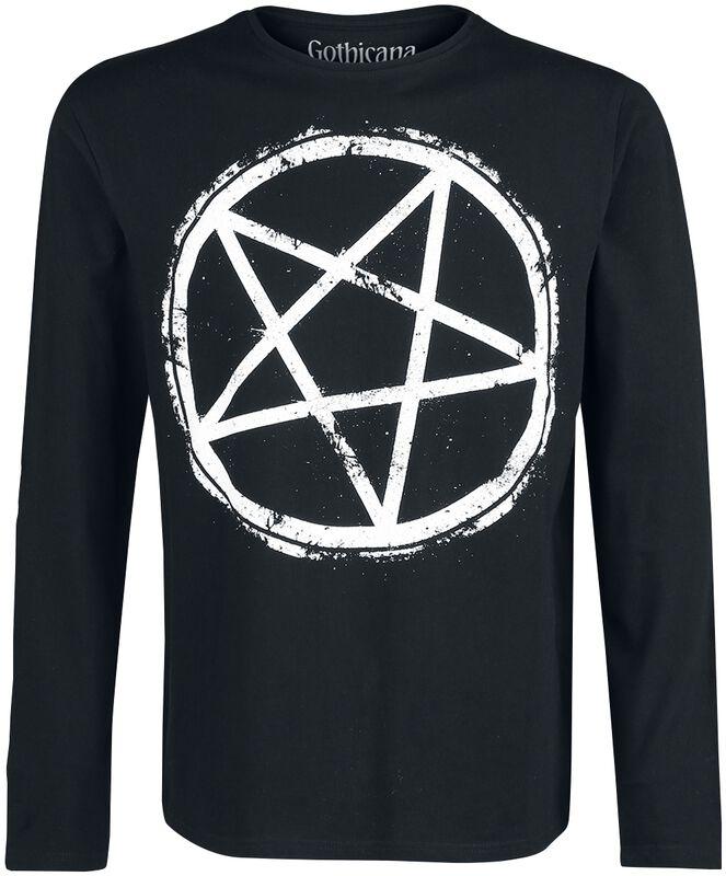 Longsleeve with Pentagram print