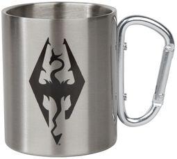 Skyrim - Symbole Dragon - Mug Avec Mousqueton