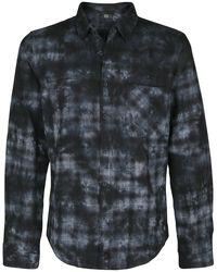Plaid shirt with batik look
