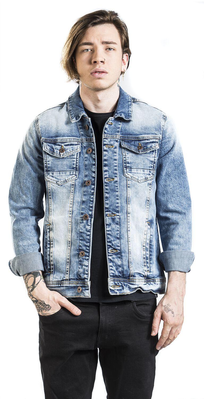 marbr e bleue shine original veste en jean large. Black Bedroom Furniture Sets. Home Design Ideas