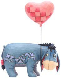 Eeyore with a Heart Balloon Figurine