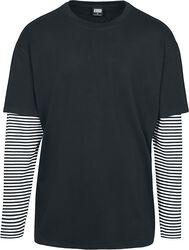 T-Shirt Manches Longues Double Épaisseur Oversize