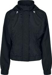 Ladies Oversized Shiny Crinkle Nylon Jacket