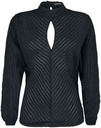 Gothicana Semi-Transparent Blouse