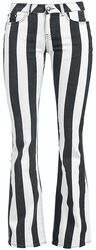 Grace - Black/White Striped Trousers