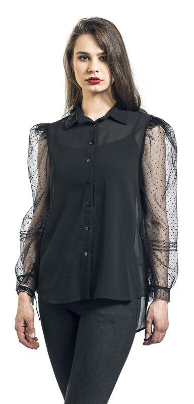 Organza Sleeves See-Through Shirt