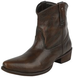 Bottines Cowboy Marron/Noir
