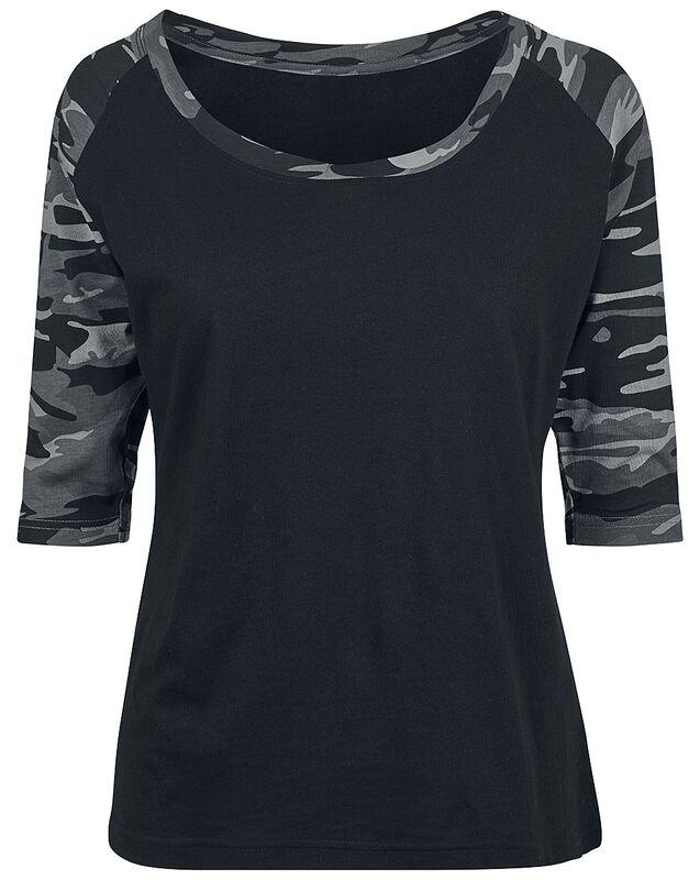 T-Shirt Contrast Raglan Manches 3/4