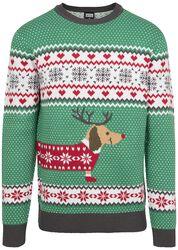 Pull Moche De Noël Sausage Dog