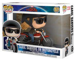 Carol Danvers sur sa Moto - Funko Pop! Rides n°57