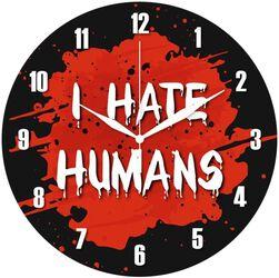 Glazen Wandklok I Hate Humans