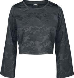 T-shirt Court À Manches Longues Imprimé Camouflage