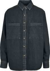 Ladies Denim Oversized Shirt