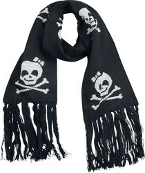 Scarf With Laughing Skulls