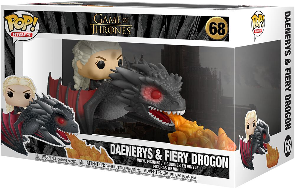 Daenerys and Fiery Drogon (POP Rides) - Funko Pop! n°68