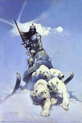 Frank Frazetta Silver Warrior