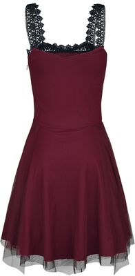 Gothicana Short Dress with Lacing and Lace