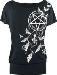 T-Shirt Pentagramm und Traumfänger
