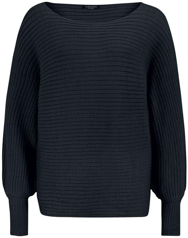 Ladies Rib Knit Oversized Pullover