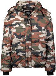 Doudoune Avec Imprimé Camouflage