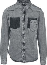 Chemise en jean avec poche