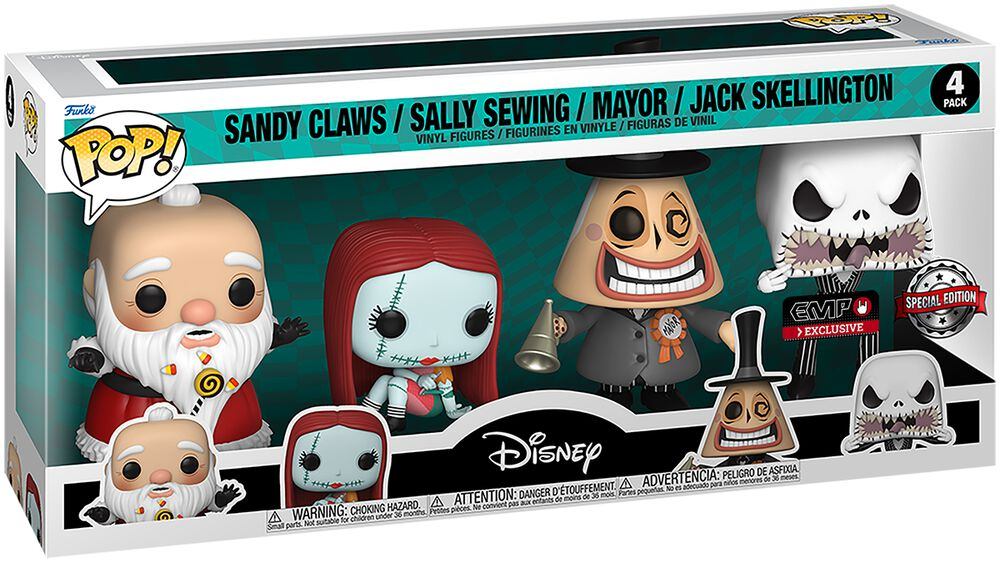Sandy Claws/Sally Sewing/Mayor/Jack Skellington - 4-Pack Figuren