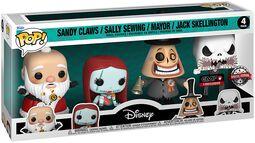 Sandy Claws/Sally Sewing/Mayor/Jack Skellington - 4 Pack Figuren