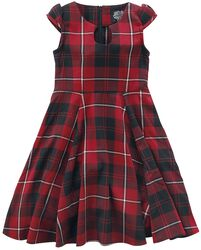 Red Tartan Tea Kids Dress