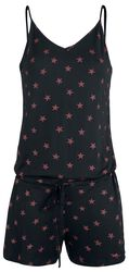 Combi-Short Noire Avec Étoiles Rouges
