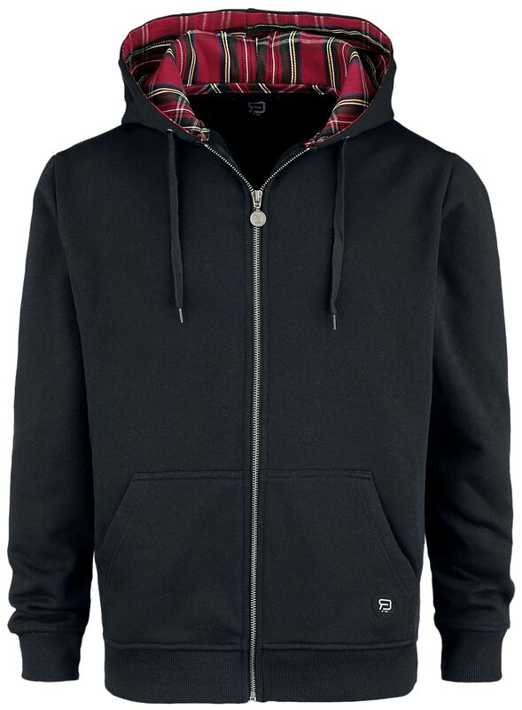 Hoodie with patterned hood lining