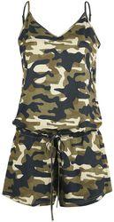 Combi-Short Verte Motif Camouflage
