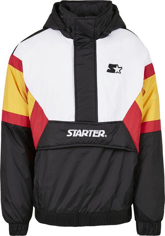 Colour Block Half-Zip Retro Jacket