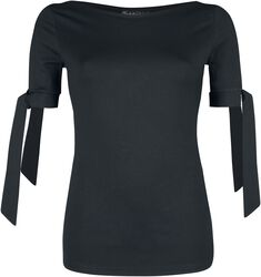 Basic Black Cowl Neck Top