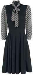 Robe Imprimés Inspirés Art Deco Bettie Noire
