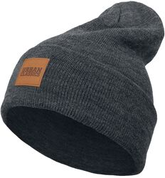 Bonnet Long Avec Patch En Cuir