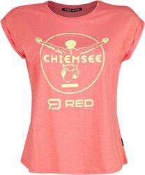 RED X CHIEMSEE - T-Shirt Rose Imprimé
