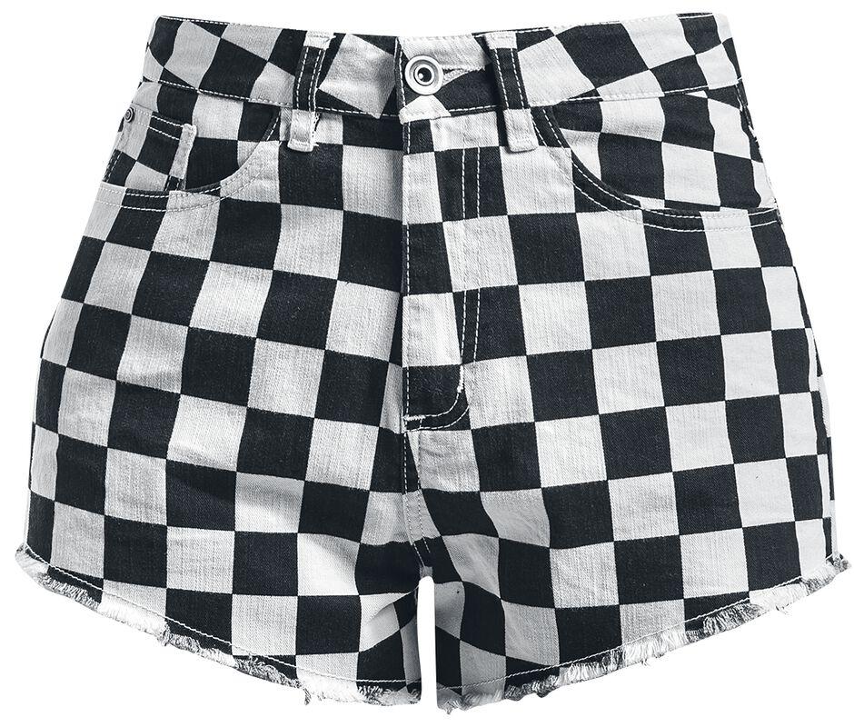 Ladies Check Twill Hot Pants