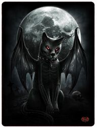 Vamp Cat Fleece Blanket