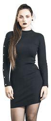 Button Sleeve Rib Dress
